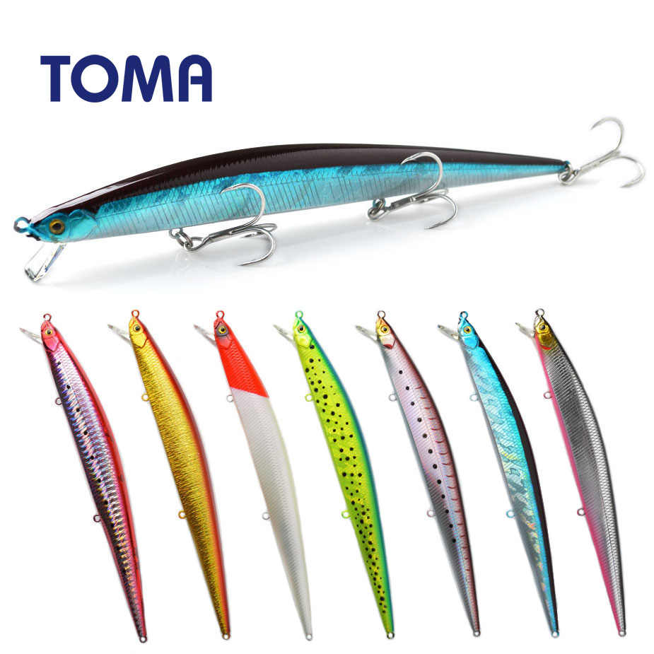 TOMA New Suspend Wobbler Fishing Lure 175mm 27g Slow Floating Minnow Crankbait Bass Pike Bait Fishing Tackle