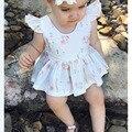 Vestido de princesa Crianças Roupas de Menina das Crianças 0-3 Anos de Idade Do Bebê Sem Mangas Backless Amor Borboleta Flor Da Praia do Verão Qute partido Ku31