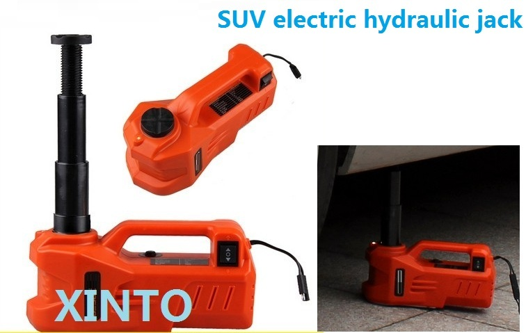 3Ton 12V horizontal type Electric hydraulic jack portable jack with LED flash light the max load 3Ton for SUV use