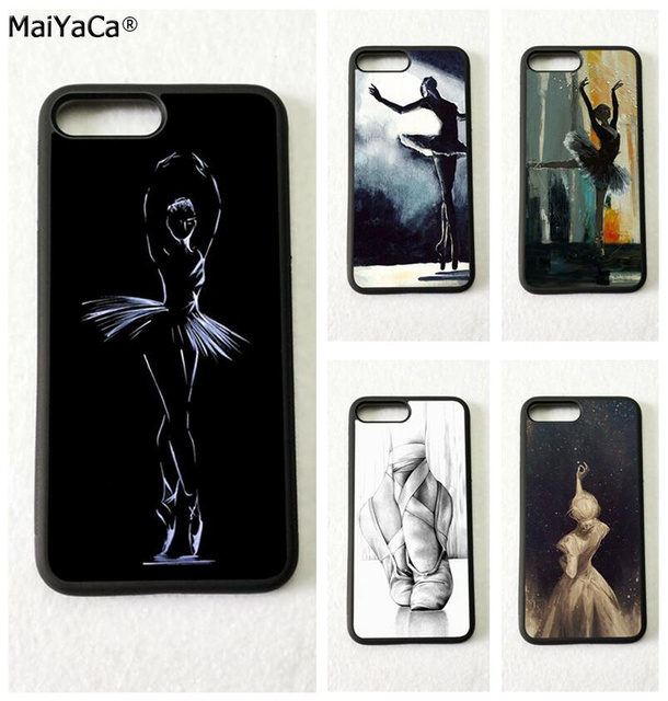 finest selection 5a2f2 5bd64 US $4.48 10% OFF|ballet dancers ballerinas soft silicone mobile phone cases  for iphone 5s SE 6 6s plus 7 7plus 8 8plus X XR XS MAX case cover-in ...