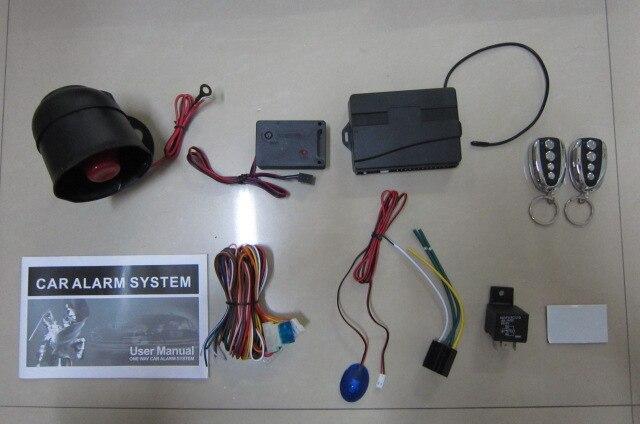 Système d'alarme de voiture télécommandé bras à distance serrure de porte centrale automatique avec capteur de choc - 2