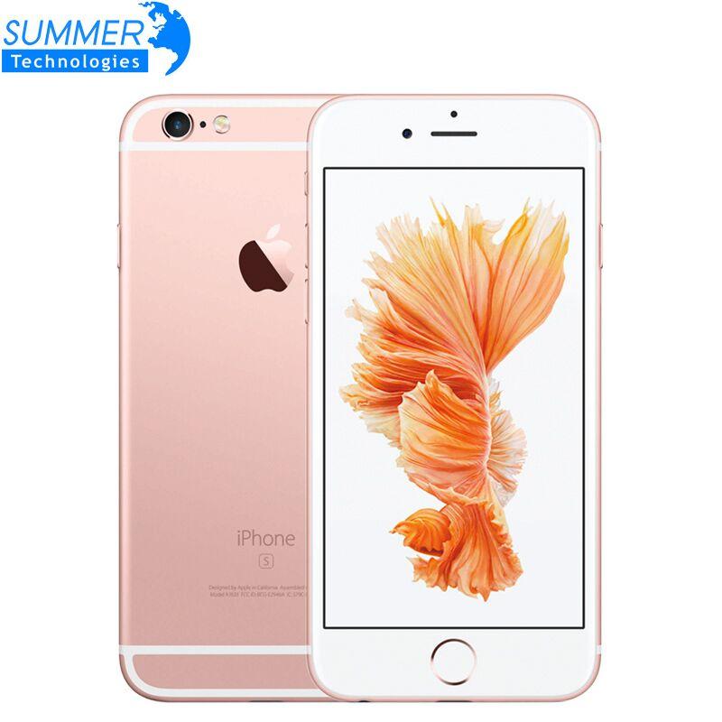 Smartphone Apple iPhone 6S débloqué d'origine 4.7 IOS double cœur A9 16/64/128 go ROM 2 go RAM 12.0MP 4G LTE IOS téléphone portable