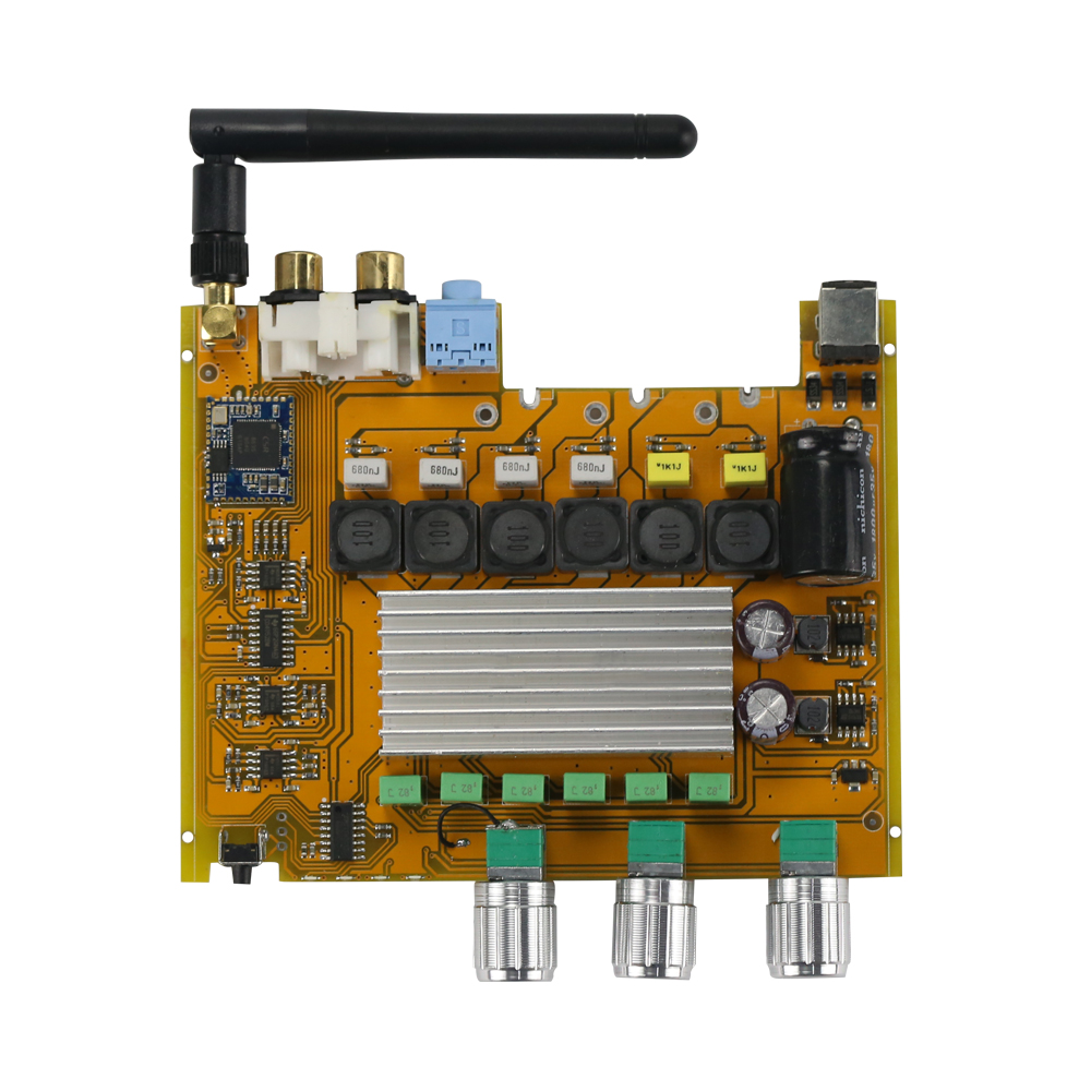 GHXAMP TPA3116 2.1 Bluetooth Amplifier Board AUX CSR8635 4.0 HIFI Digital amplifier High-power 50*2+100W Bass 2-4OHM Speaker DIY
