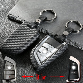 Carbon Fiber Key Cover Case 3 Buttons For Bmw E46 X5 E53 X3 E83 G30 E90 E39 E46 F30 F10 F20 E34 E38 Z3 Car Key Cover image