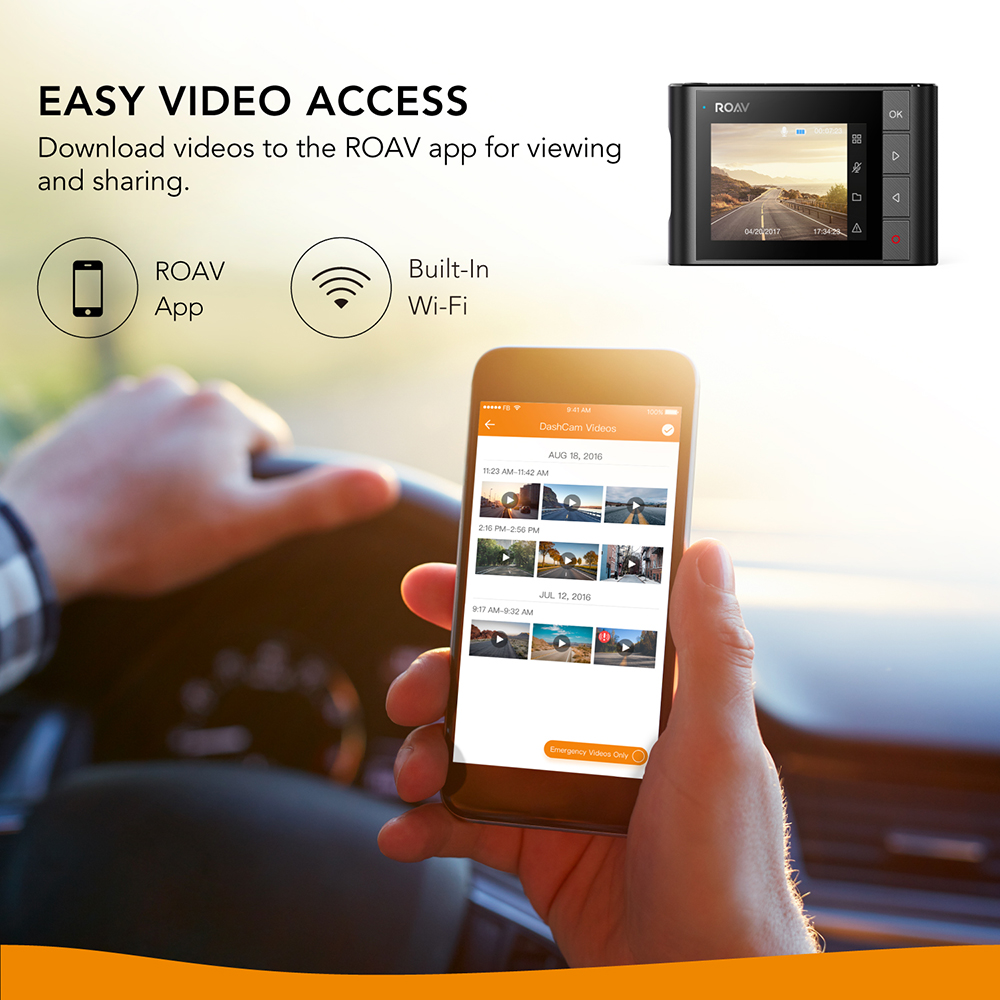 Anker Roav A1 Dash Cam Dashboard Camera Recorder 1080P FHD Nighthawk Wide Angle WiFi G Sensor WDR Loop Recording Night Mode - 4