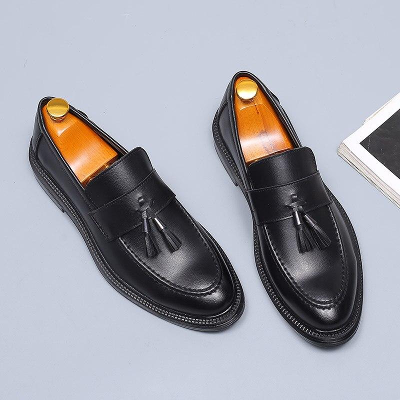 Black De Cuir Chaussures Oxford Hommes Formelle Nouvelle Mocassins Décontractées Mode Bureau En Affaires Élégant Desai Italien Gland Robe qxwTpO8