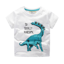 Park Dinosaur Children Boys T Shirts Garments cotton Cartoon Summer Baby Kids Girls Short sleeve Tops Tee Boys Clothes 2019 New 80 120cm cute animal dinosaur children tops short sleeve t shirt summer kids boys clothing shirts tee casual baby boys clothes