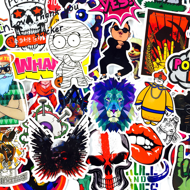 Image 3 - 1000 PCS Mix Style Stickers Fridge Skateboard Toys Cool JDM Doodle Decals Home Decor Luggage Car Styling Bike Laptop DIY Sticker-in Stickers from Toys & Hobbies