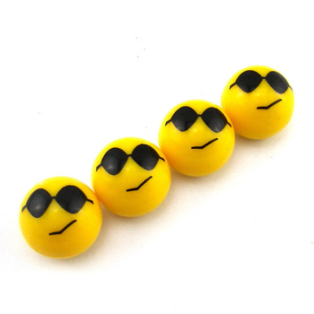 BBQ@FUKA Cool Proud Smile Expression Car Wheel Tire Valve Stem Caps Dust Cover Fit For Pickup SUV image