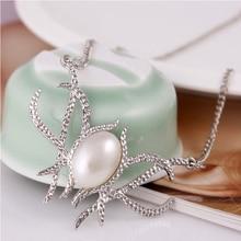 2019 Fashion Jewelry Necklace Pearl Pendant Pecklace Pearl Necklace Round Jewelry Female Elegant Eecklace shiying a02304 fashion elegant artificial pearl acrylic pendant necklace black white blue