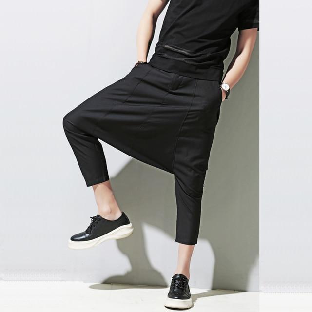 M-XL! 2016 người đàn ông mới của quần áo mùa xuân và mùa hè cá tính Harem quần âu quần nam 7 quần capris trang phục ca sĩ