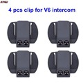 4 pcs V6 V4 Clip Bracket Suitable for BT Interphone Motorcycle Helmet Headset Intercom for V6 V4 V2-500C
