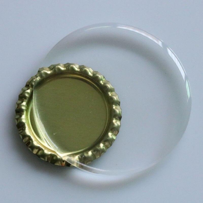 200 шт./лот 65 мм 58 мм 55 мм очень ясно Круг Купол Наклейки круглый смола эпоксидная точками Spacer для холодильника наклейки DIY не желтеет