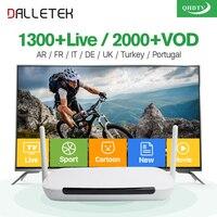 IPTV Arabisch Dalletektv Android IP TV Box TV Ontvanger VOD 2000 Movie Arabisch IPTV Europa Franse IPTV Box 1 Jaar QHDTV Abonnement
