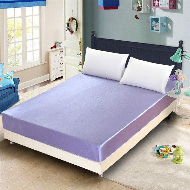 Super soft and comfortable silk single double three piece mattress sheet