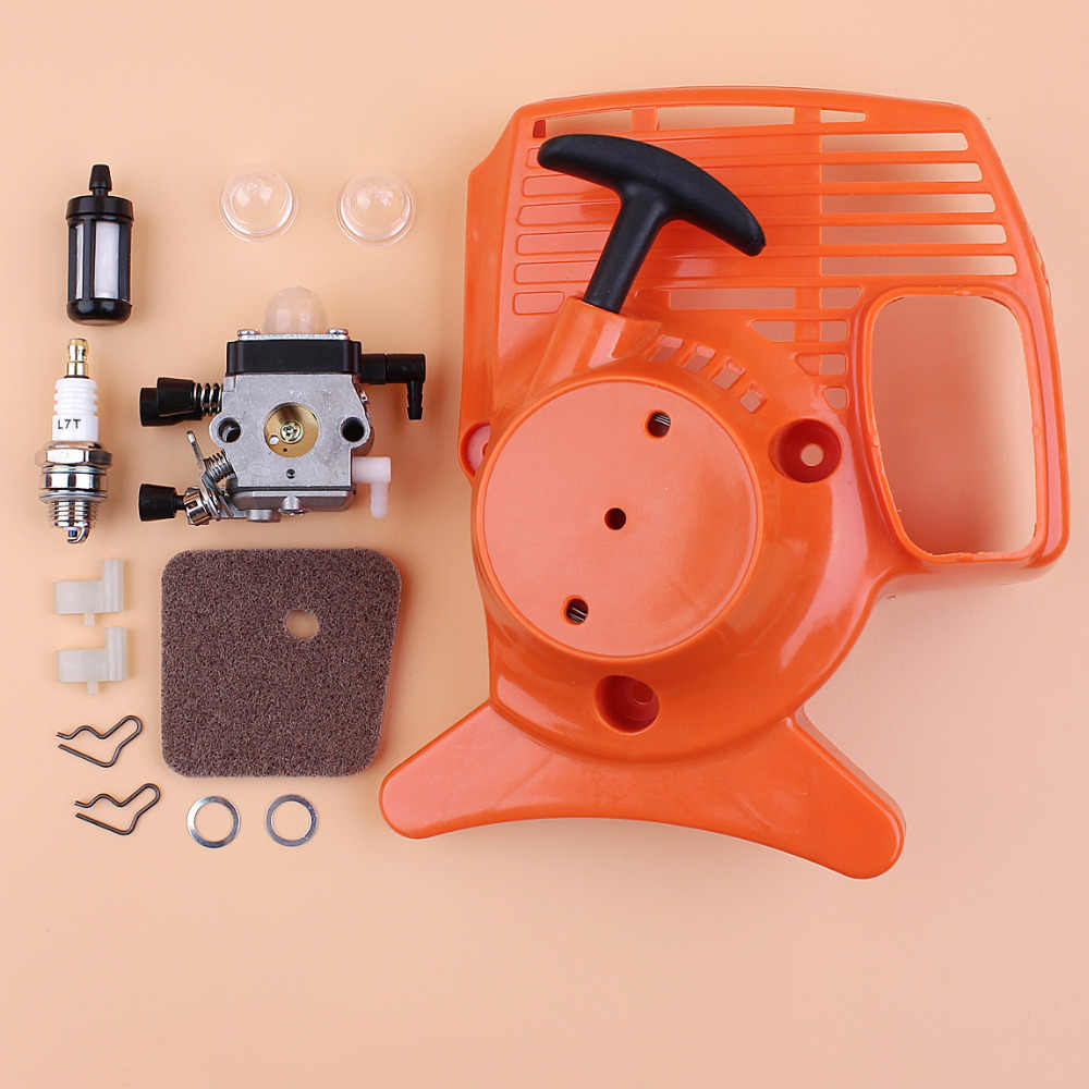 Recoil Starter Carburetor Air Filter Kit for STIHL FS55 FS38 FS45 FS46 FC55  HL45 KM55 Grass Trimmer Replace Zama Carburetor