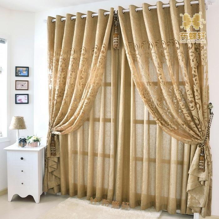 zen moderne continental ajour tissu rideaux sur mesure salon haut de gamme ambiance de luxe. Black Bedroom Furniture Sets. Home Design Ideas