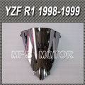motor Double Bubble Windshield/Windscreen - Silver For Yamaha R1 1998 1999 98 99