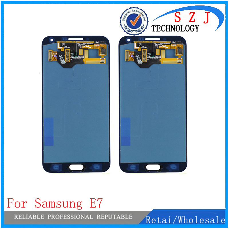 New 5.5 inch case For Samsung E7 E7000 Lcd Display Touch Screen Digitizer Assembly Replacement parts Free Shipping new 10 1 inch parts for asus tf701 tf701t lcd display touch screen digitizer panel full assembly free shipping