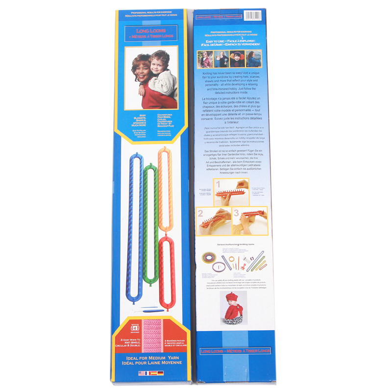 Boye Long Loom knitting looms set of 4 size/4color with hook needles ...