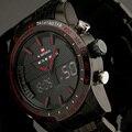 2016 новинка мужчин часы полная стали мужские кварцевые час аналоговый цифровой из светодиодов часы спортивные военные наручные часы