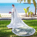 Bridal veil 3 meters wedding veil long lace Cathedral Mantilla Wedding Bride Veil Comb Have in stock