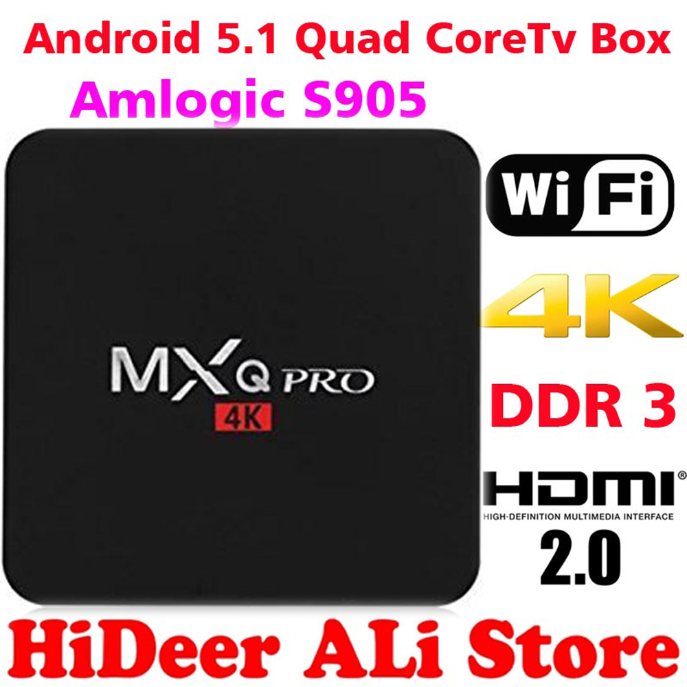 MXQ PRO Android TV Box Amlogic S905 Quad Core Android5 1 DDR3 1G HDMI 2 0