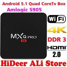 MXQ PRO Android TV Box Amlogic S905 Quad Core Android5.1 DDR3 1G HDMI 2.0 WIFI 4K 1080i/p Kodi 16.0 Full loaded add-ons PRO