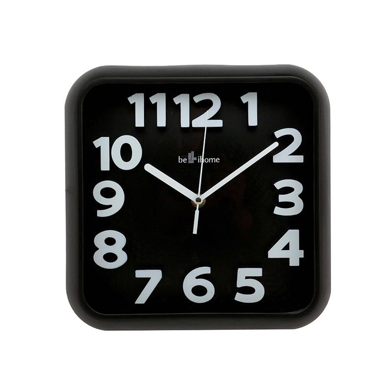 Digital Wall Clock Black Modern Design Retro Square Clock ...