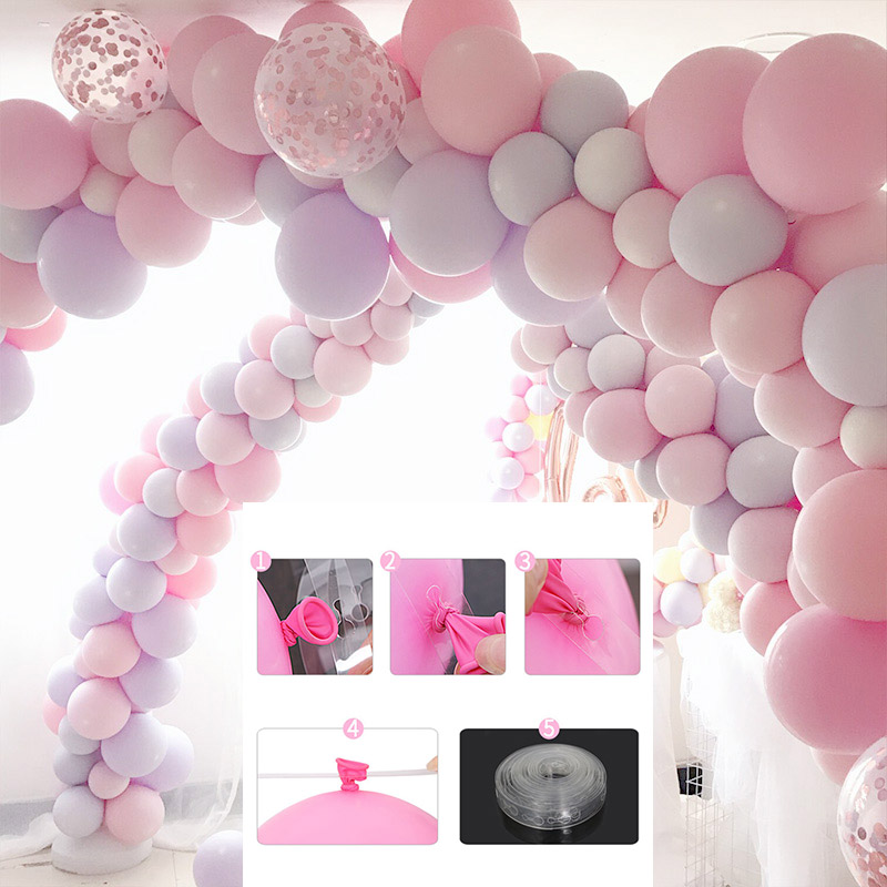 5M/Roll  410 Holes Latex Balloon Chain of Rubber  Wedding/Birthday  Party Balloons Backdrop Decor Balloon Chain Arch Decoration birthday cake