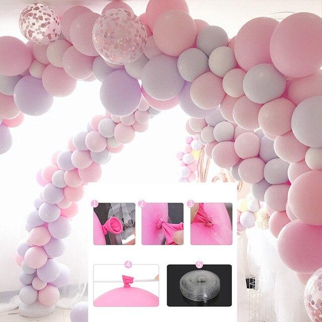 5 m/Rolo de 410 Buracos de Casamento Cadeia de Balão De Látex de Borracha/Cadeia de Balão Balões de Festa de Aniversário Decoração Pano de Fundo arco Decoração