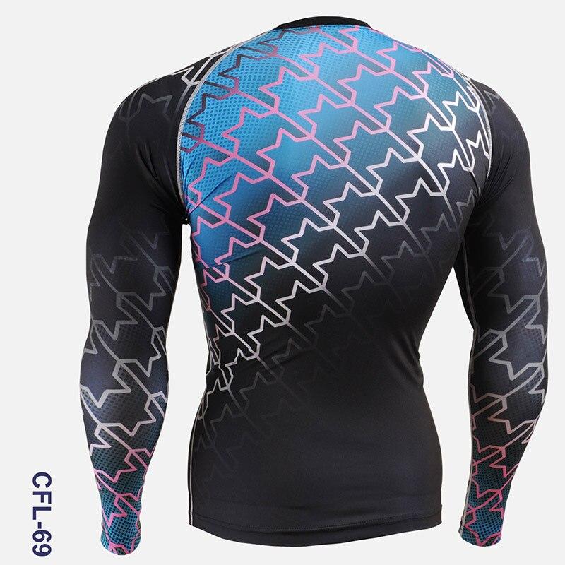 Ciclo abbigliamento uomo 2016 pieno stampa palestra attività esterna calzamaglia bicicletta da uomo a manica lunga camicette corsa e jogging formazione sport camicette - 2