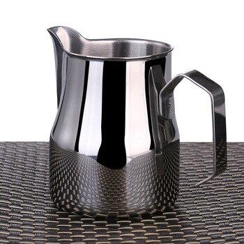 RSCHEF tirador café de boca larga punta de la taza de acero inoxidable maceta Capuccino flor cilindro de lujo taza de café leche