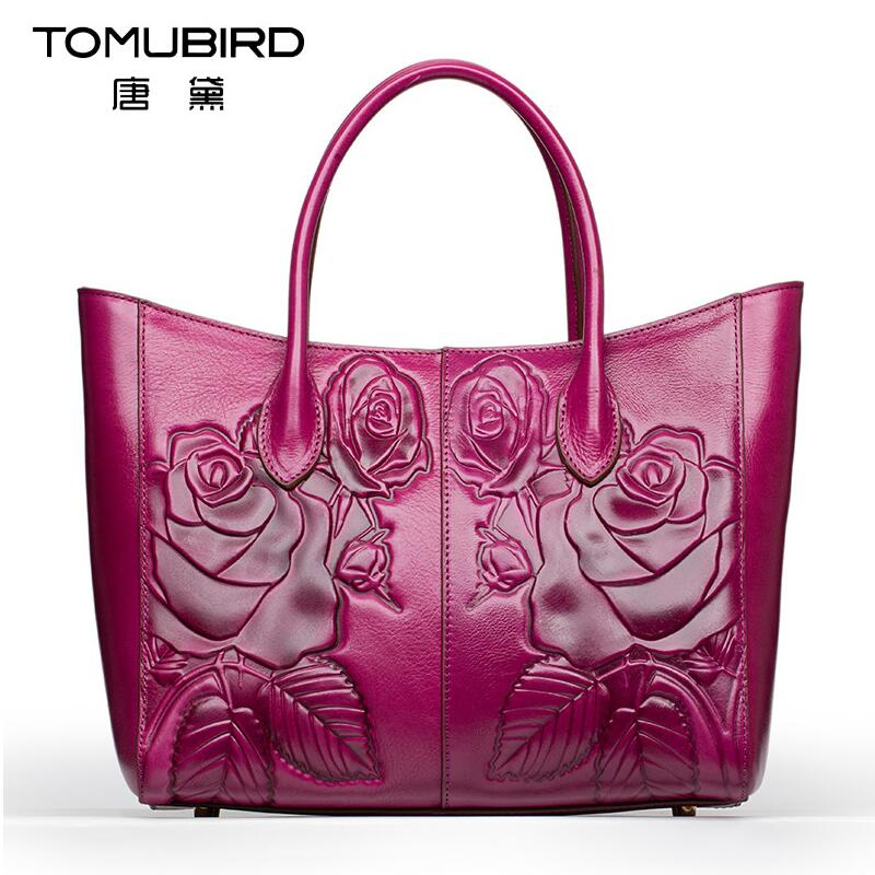 2017 New  genuine leather women bag brands quality cowhide rose embossing fashion women leather handbags shoulder bag chispaulo women genuine leather handbags cowhide patent famous brands designer handbags high quality tote bag bolsa tassel c165