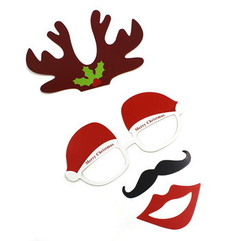 New 27pcsSet Christmas Hats Wedding Party Photography Pictures Fun Funny Christmas Decoration Photo Props Home Party Decoration pie de rodillo para maquina de coser