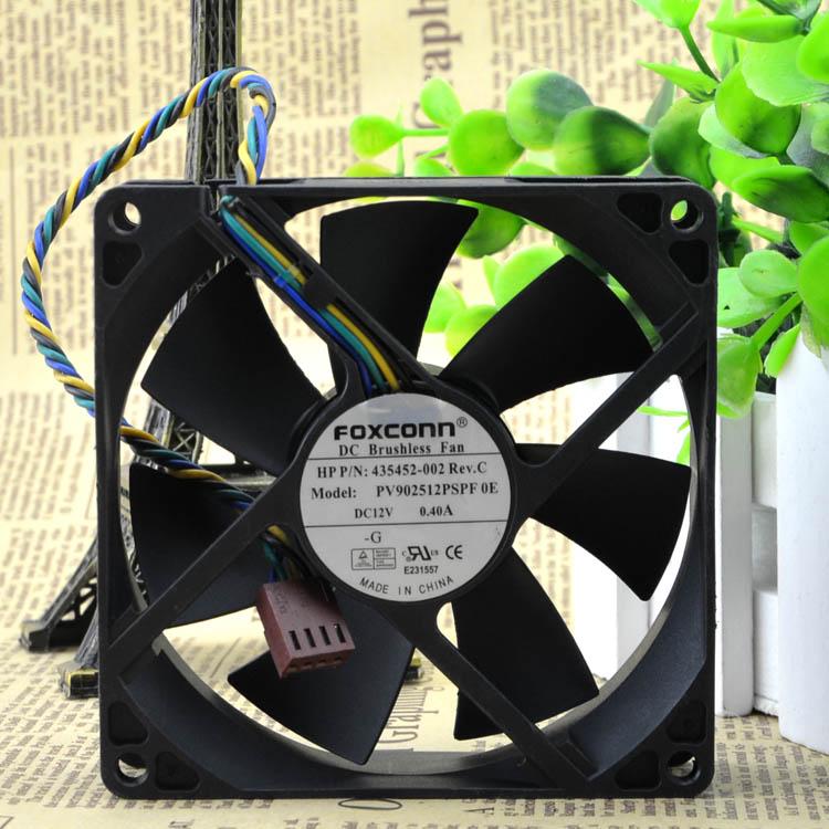 PV902512PSPF 0E 92mm x 25mm DC 12V 4Pin PWM CPU Cooling Fan 435452-001 for HP