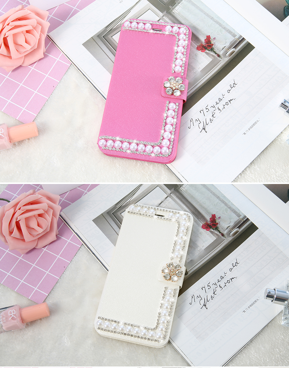 ₩KISSCASE For Samsung Galaxy S8 Plus S7 S6 Edge Girly Flip Case For ...