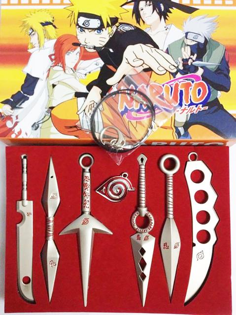 Naruto Model Metal Sword Knife 7PCS/Set Silver