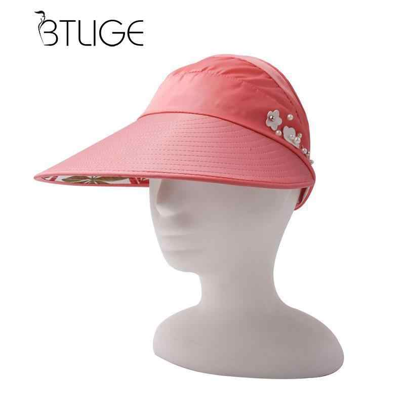 ad20d04d BTLIGE Women Summer Sun Hats Adjustable Wide Large Brim Floppy Summer Anti-sun  Uv Hat