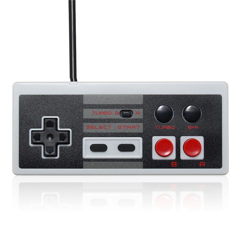 For NES Classic Mini Edition Wired 2.7m Retro Gaming Controller Gamepad With Turbo Buttons For Nintendo For Mini NES For Wii