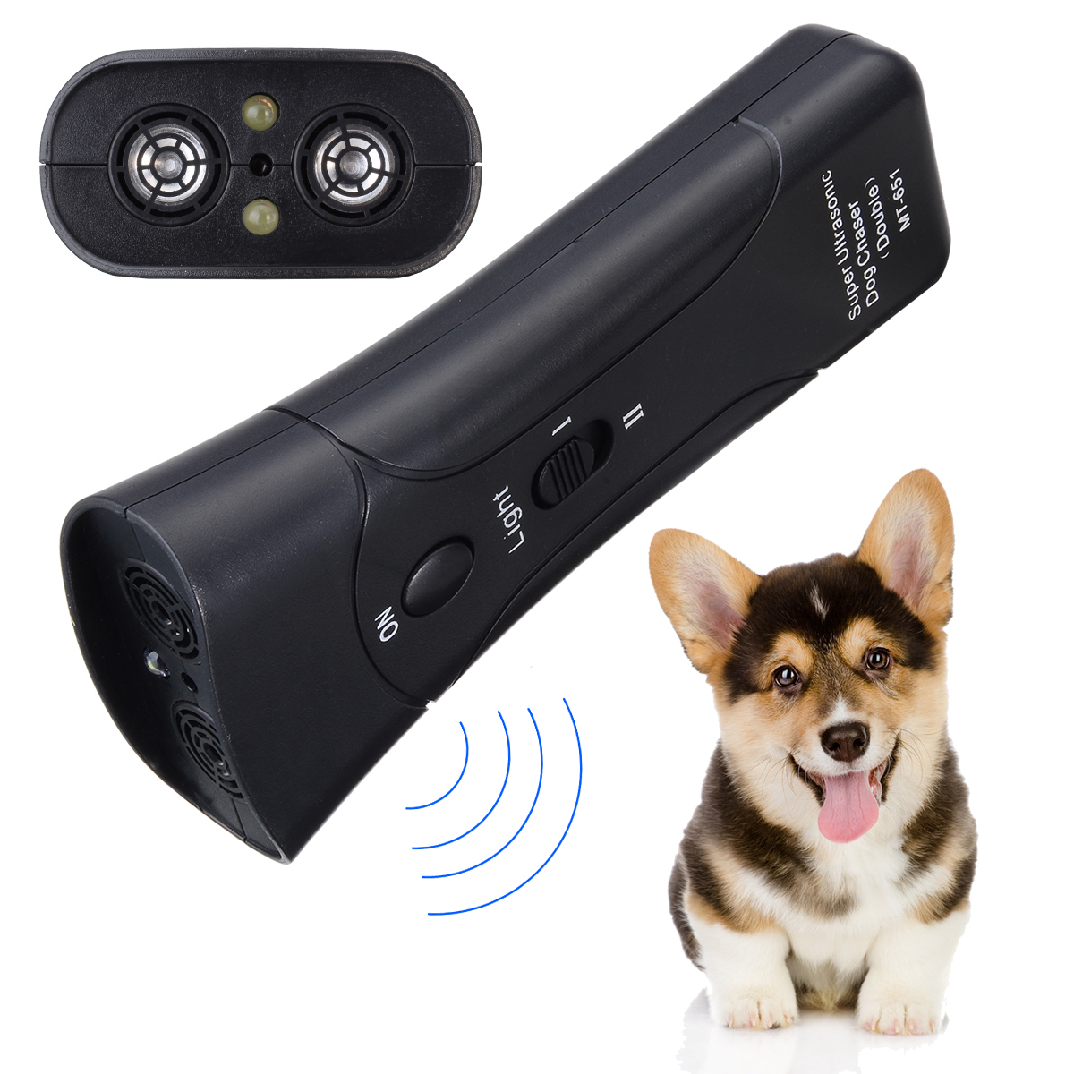 Ultrasonic font b Pet b font Dog Anti Barking Trainer Multifunctional Gentle Chaser font b Pet