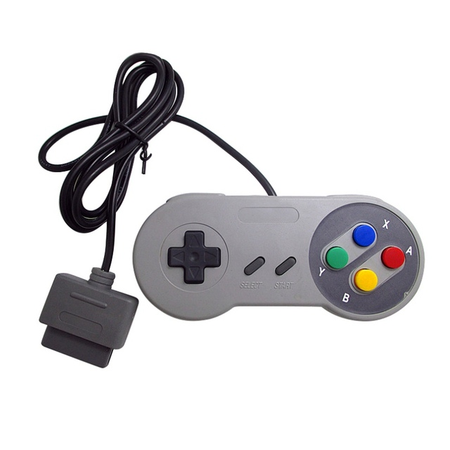 16 Bit Game Controller ABS Gamepad for Super Nintend SNES System Console Control Pad Gamepads