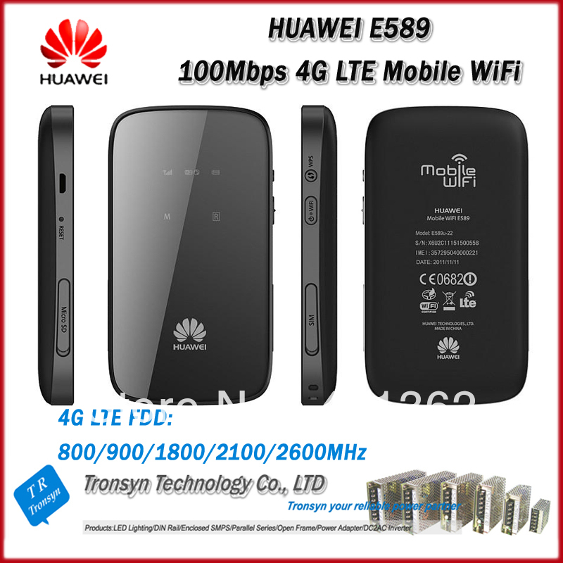New Original Unlock LTE FDD 100Mbps HUAWEI E589 Portable 4G Wireless Router With Sim Card Slot And 4G LTE Wireless Router dual sim industrial 4g fdd lte wifi wireless router 100mbps unlock hotspot for m2m application support gps model h700t f1