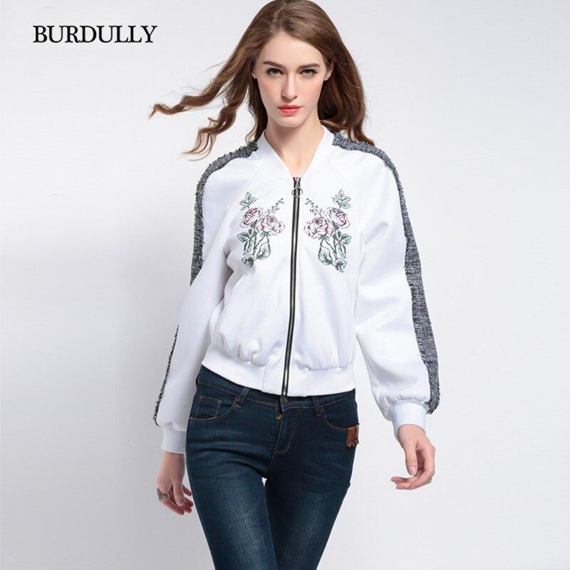 BURDULLY Для женщин все матч толстовка верхняя одежда Бейсбол форменная Куртка Верхняя одежда с длинными рукавами пальто весна Новые короткие