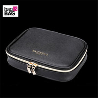 Bag IN BAG Fashion Portable Cosmetic Bag Women Jewelry Storage Bag Travel Make Up Bag Makeup