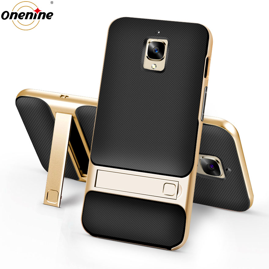 """Telefonskydd för Oneplus 3 One Plus 3T-fodral och fodral 5,5 """"PC TPU Silikon Hybrid 360 skyddande OnePlus3T bakarmarhus"""