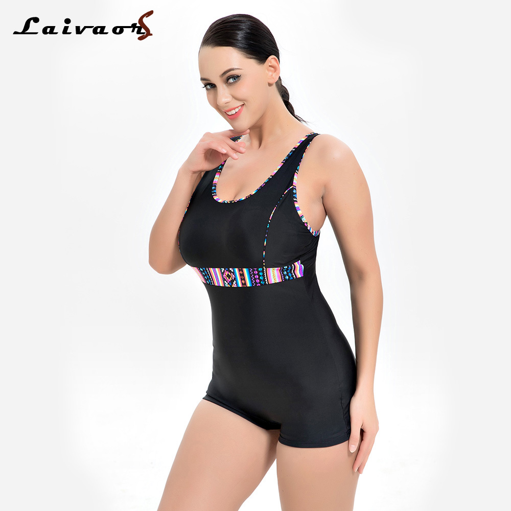 Laivaors New Swimwear Women 2018 Professional One Piece Swimsuit Female Sport Competition Swimming Suits Plus Size Bathing Suits