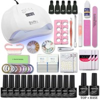 Nail Gel Polish Nail Set with UV Led Lamp 36/48/54W Manicure Pedicure Accessories Manicure Tool Set choose 12 Color Nail Gel Kit