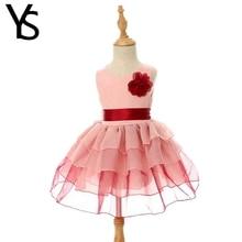 2-8 Years Baby Girls Dress Kids Princess Dress Sleeveless Toddler Mini Dress Children Clothes Cotton Organza Summer 3 4 5 6 7