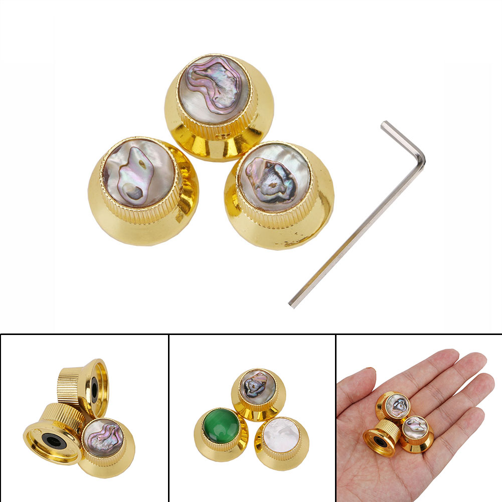 1 Set Guitar Knobs Metal Gold Color Speed Control Volume Tone for Guitar Guitarra Replacement Electric Guitar Accessories